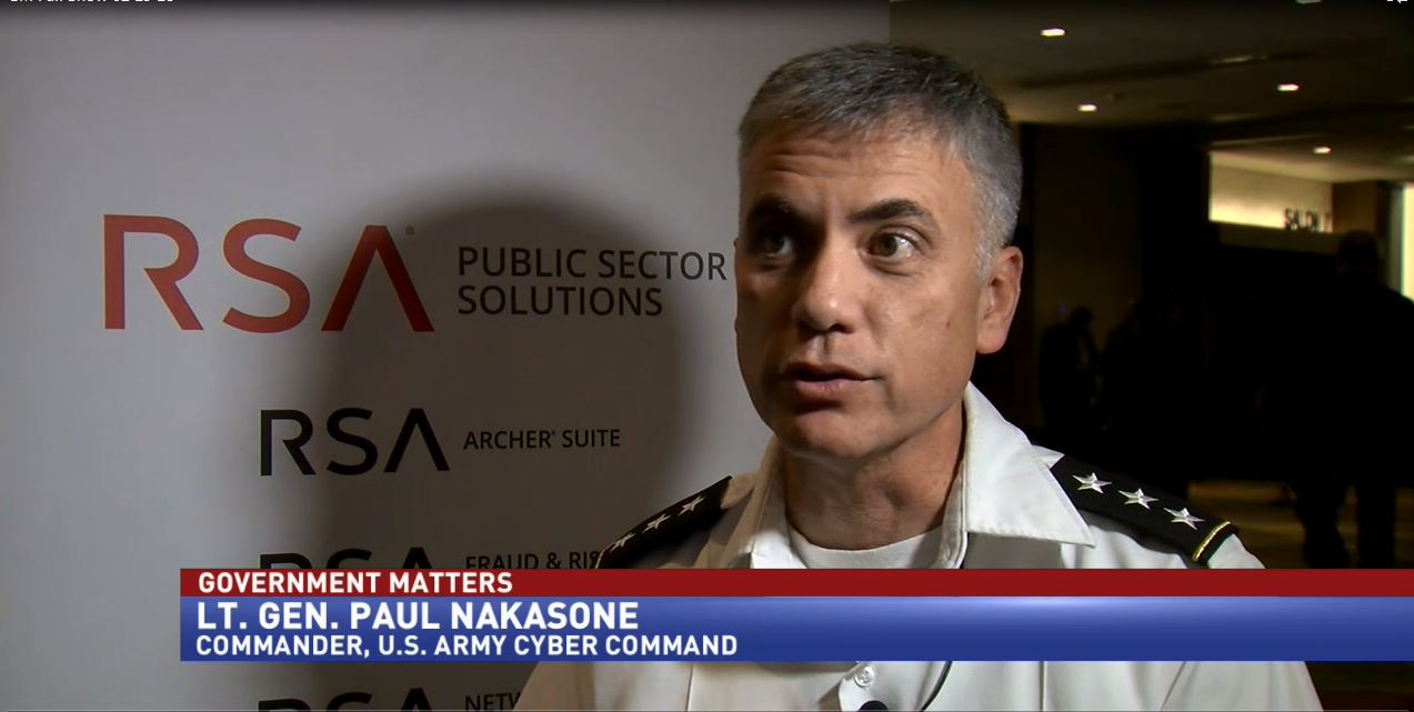 U.S. Army Cyber Command's Lt. Gen. Paul Nakasone from the RSA Conference
