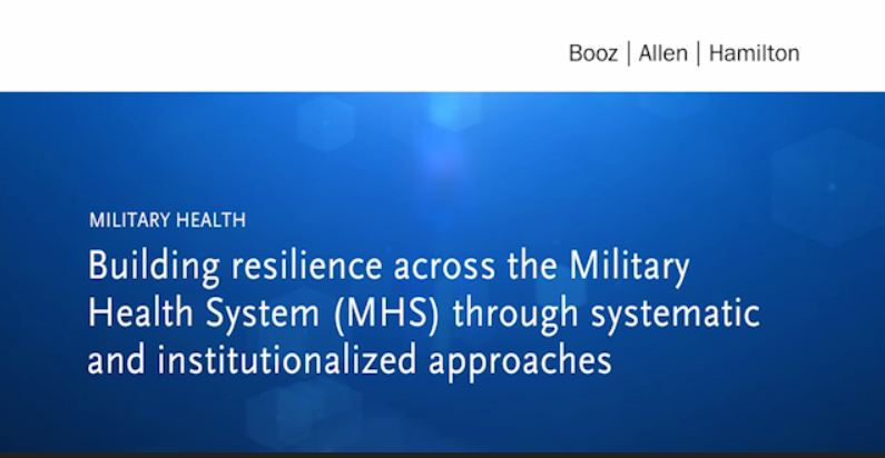 Building resilience across the Military Health System (MHS) through systematic and institutionalized approaches