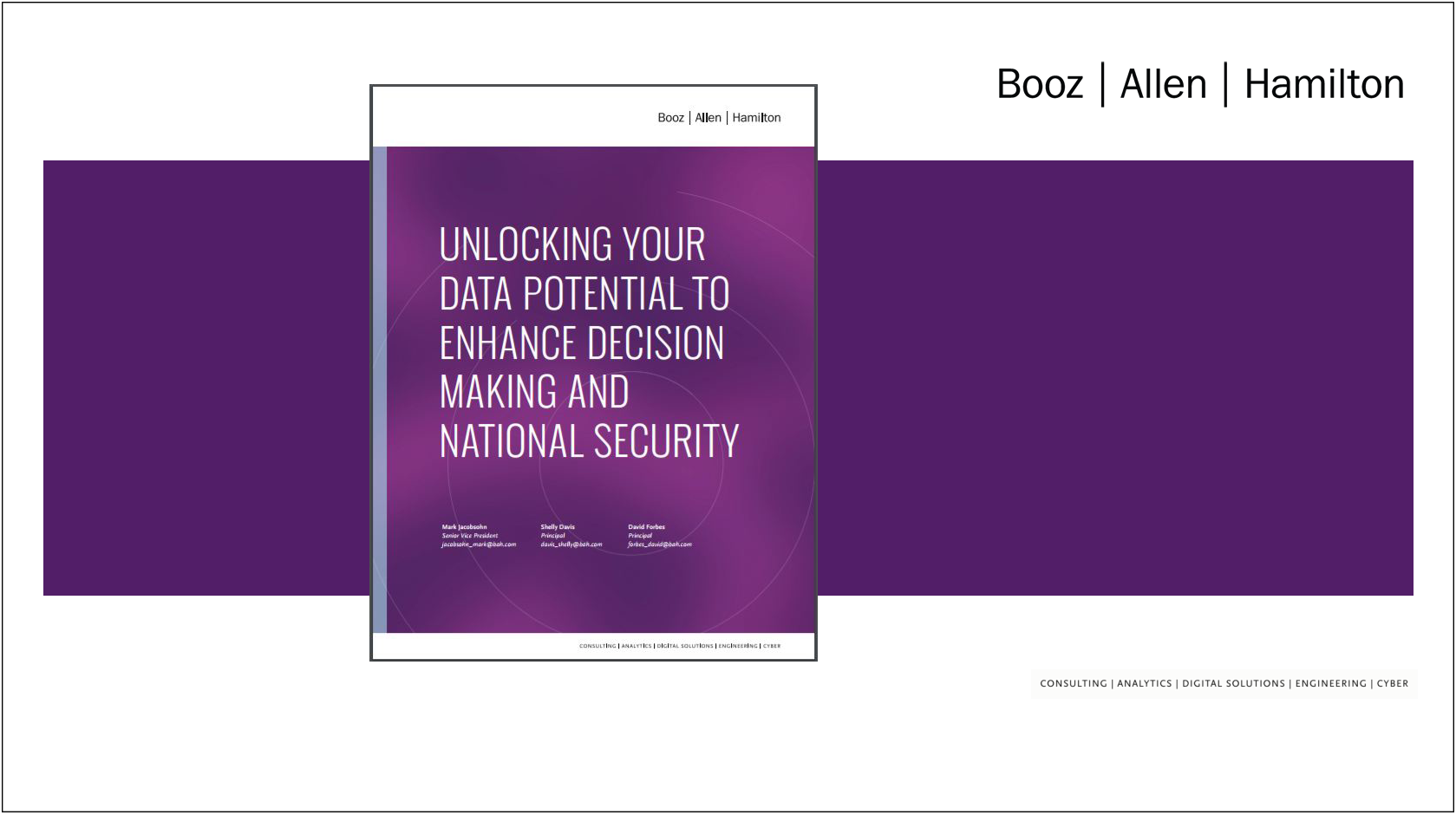 Unlocking Your Data Potential To Enhance Decision Making and National Security – Thought Piece